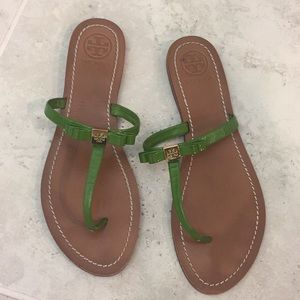 Tory Burch green sandals size 11